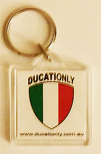 Ducationly Key Ring, get one on your Ducati today...