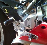 Ducati Rearsets for Ducati Panigale 1199. (Prototype shown, production item in Black).
